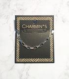 Charmin's  CB48 Rectangle Shackle Bracelet Shiny Steel_