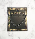 Charmin's  CB42 Round Shackle Bracelet Shiny Steel_