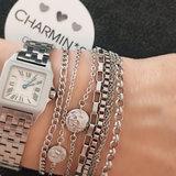 Charmin's  CB34 Coin of Power Bracelet Shiny Steel_