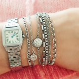 Charmin's  CB32 Lashes Bracelet Shiny Steel_