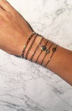 Charmin's  CB30 Roman Coin Bracelet Shiny Steel_