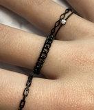 Charmin's stapelring R901 Belcher Chain Black_