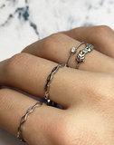 Charmin's roségoudkleurige stapelring R900 Belcher Chain Rosegoldplated_