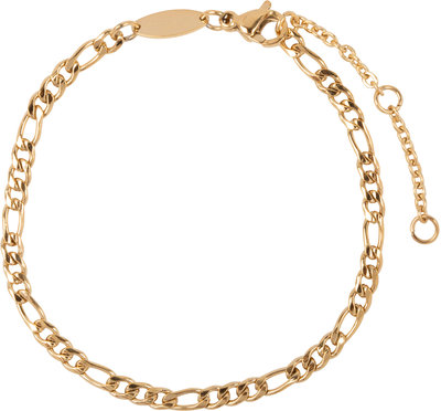 CB47 Figaro Bracelet Gold Steel