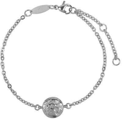 CB34 Coin of Power Bracelet Shiny Steel