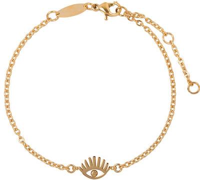 CB33 Lashes Bracelet Gold Steel