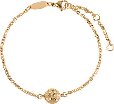 CB31 Roman Coin Bracelet Gold Steel