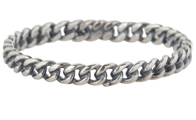 Charmin's stapelring zilveren Ring R298 Chain 925 zilver