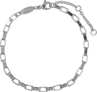 Charmin's  CB48 Rectangle Shackle Bracelet Shiny Steel