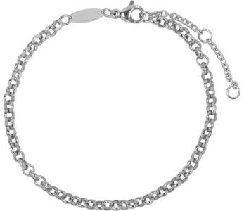 Charmin's  CB42 Round Shackle Bracelet Shiny Steel