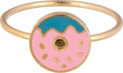 KR104-Donut-Goud-staal-kinderring