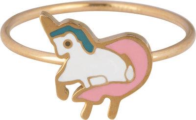 KR108-Baby-Unicorn-Goud-staal-kinderring