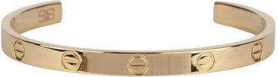 Check deze modieuze armband BL102 Srew You Steel Gold van het merk B&L By Charmin's!!